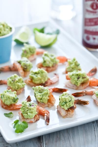 Slathered Guacamole Stuffed Shrimp