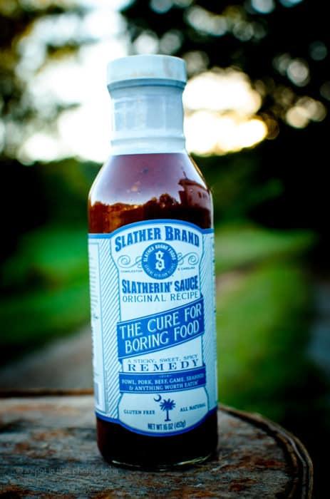 slather brands 16oz bottle of slatherin sauce