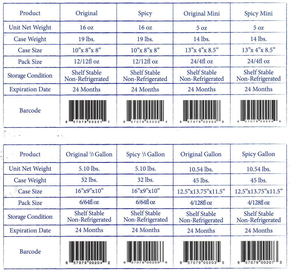 Product-specifications-and-Barcodes