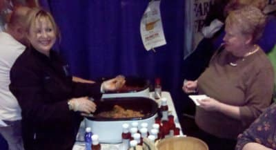 Robin Rhea of Slather Brand Foods at the Taste of Home event