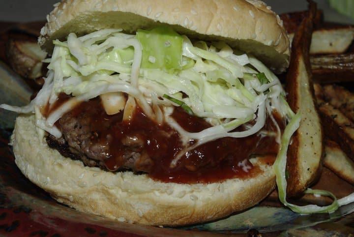 Slathered Q Burger